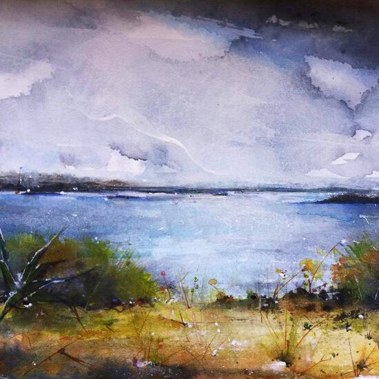 Seaside painting - Colònia de Sant Jordi. 18 x 24cm.